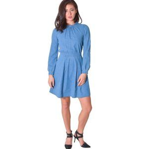 & Other Stories Long Sleeve Chambray Dress